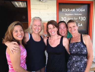 With long time students Nicole, Joy, Regina, Anne, Sylvie in front of old studio