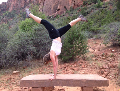 Handstands at Zions National Park UT. They can be done anywhere!