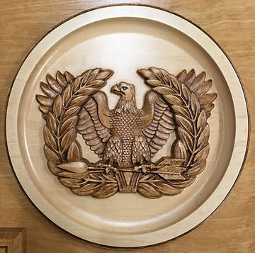 3D Carved Warrant Officer Eagle
