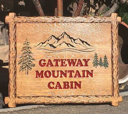 Custom Carved Wood Signage