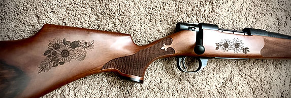 Engraved Weatherby Rifle