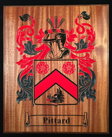 Wood Carved Family Crest / Coat of Arms - Boise, ID