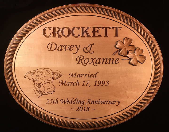 3D Carved Anniversary Plaque