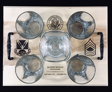 Etched Whiskey Decanters / Military Recogniton Gifts - Boise, ID