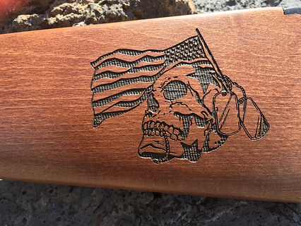 Laser engraved 10-22 stock