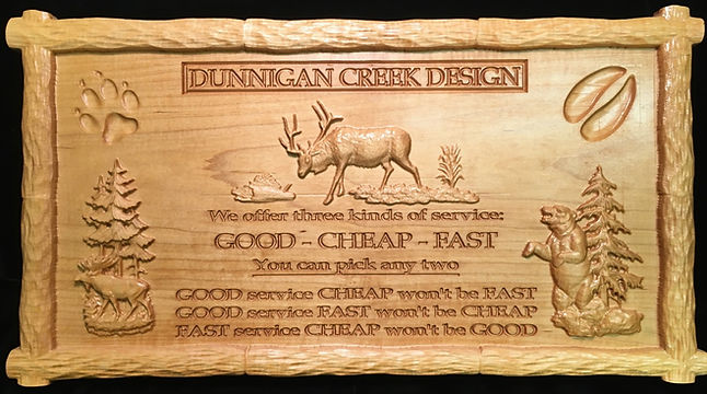 Custom Carved Wood Signage Boise