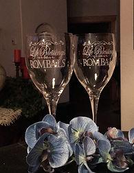 Etched Engraved Wedding Wine Glasses