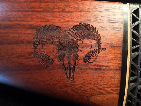 Laser Engraved Gun Stock