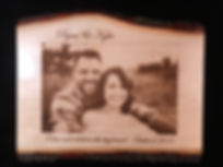 Laser Engraved Wedding Photos Boise