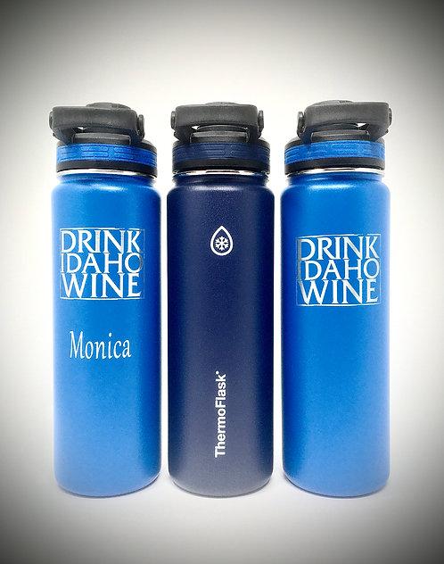 DRINK IDAHO WINE - ENGRAVED WATER BOTTLE