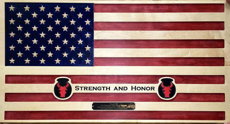 American Flag Award Plaque Boise