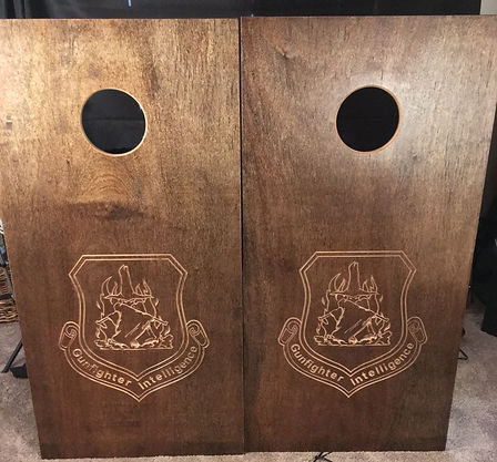 Carved cornhole boards