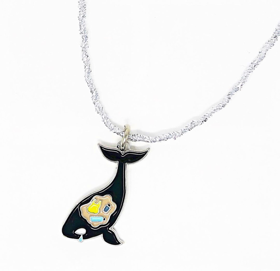 Save the Whales Enamel Charm