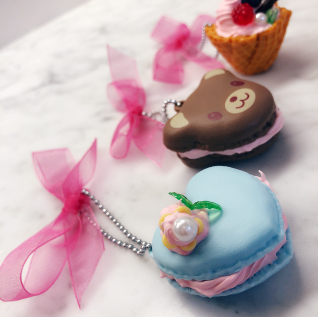 Sweet treat keychains