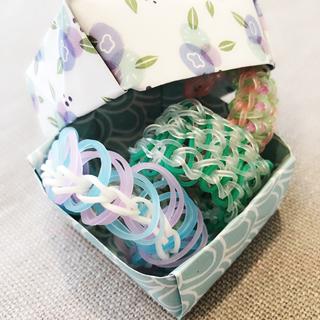 Handmade bracelets and orgami jewelry box