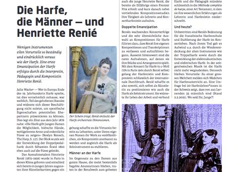 Artikel in der aktuellen Ausgabe der Schweizer Musikzeitung