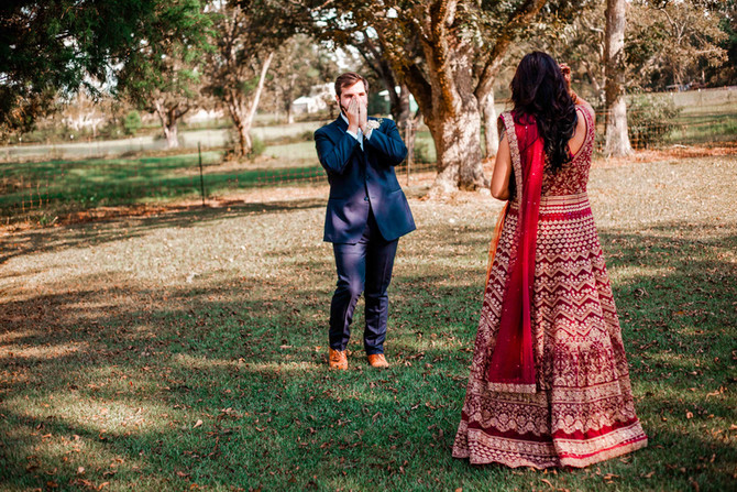 Andrew + Shubha | Meet the McClellands | Beautiful Backyard Wedding with Traditional Indian Vibes