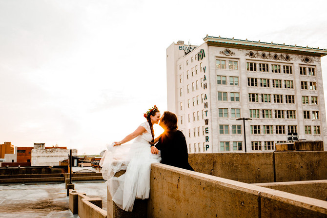 Caitlin + Corey | Downtown Mobile Newlywed Session | Mobile, AL Wedding Photographer