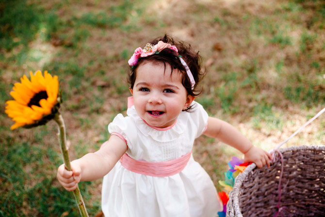 Baby Sarah Turns One | Fairhope Family Photographer | Cake Smash
