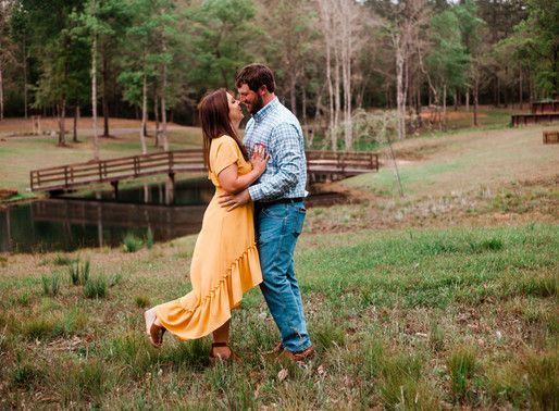 Kala + Anthony | Outdoor Engagement Session | Izenstone | Spanish Fort, AL