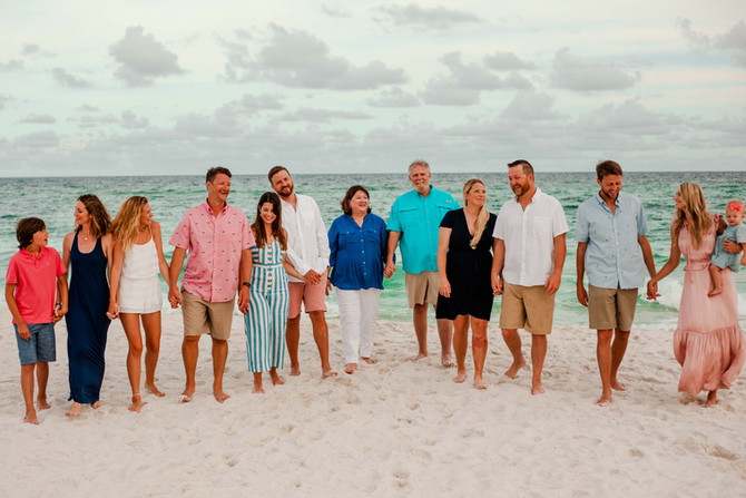 Thirteen Member Beach Family Session | Gulf Shores Family Photographer