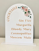 floral dome top bar sign.jpg