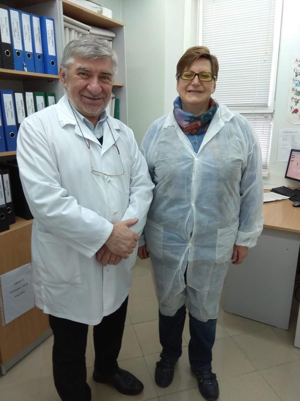 Elena Nikolayevskaya and Valeriu Crudu at IFTIP