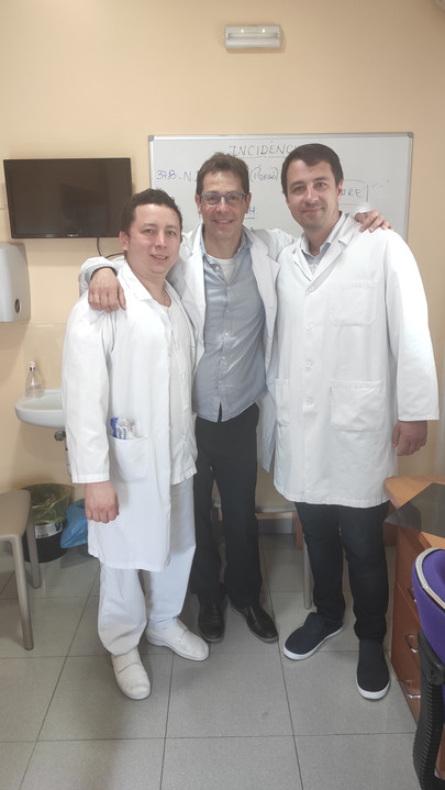 Israel and Xavier from Serveis Clinics with Artemii from PMU