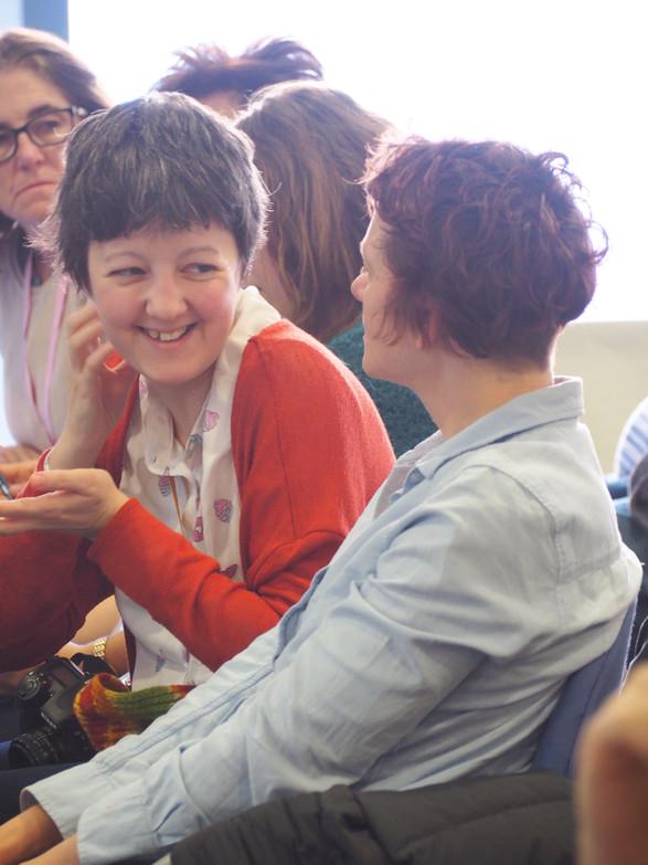 Kseniia Shchenina and Olena Rzhepishevskaya during the KoM