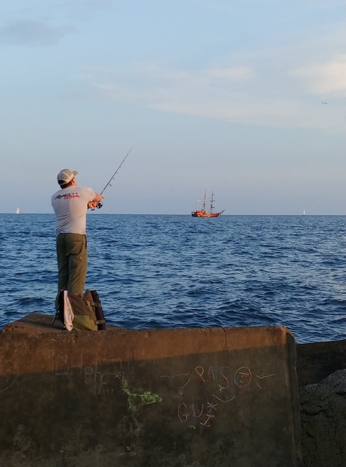 Stanislav Pavskyi fishing in the Mediterranean Sea