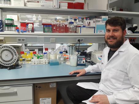 Spyridon Gkotzi at the IGTP lab
