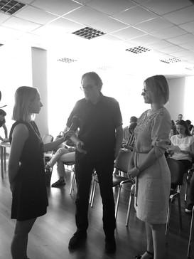 Oksana Zinchenko and Jose Domínguez are interviewed