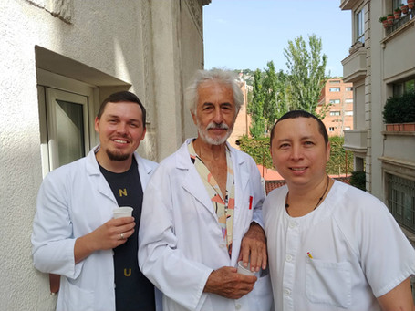 Stanislav Pavskyi visiting Serveis Clinics