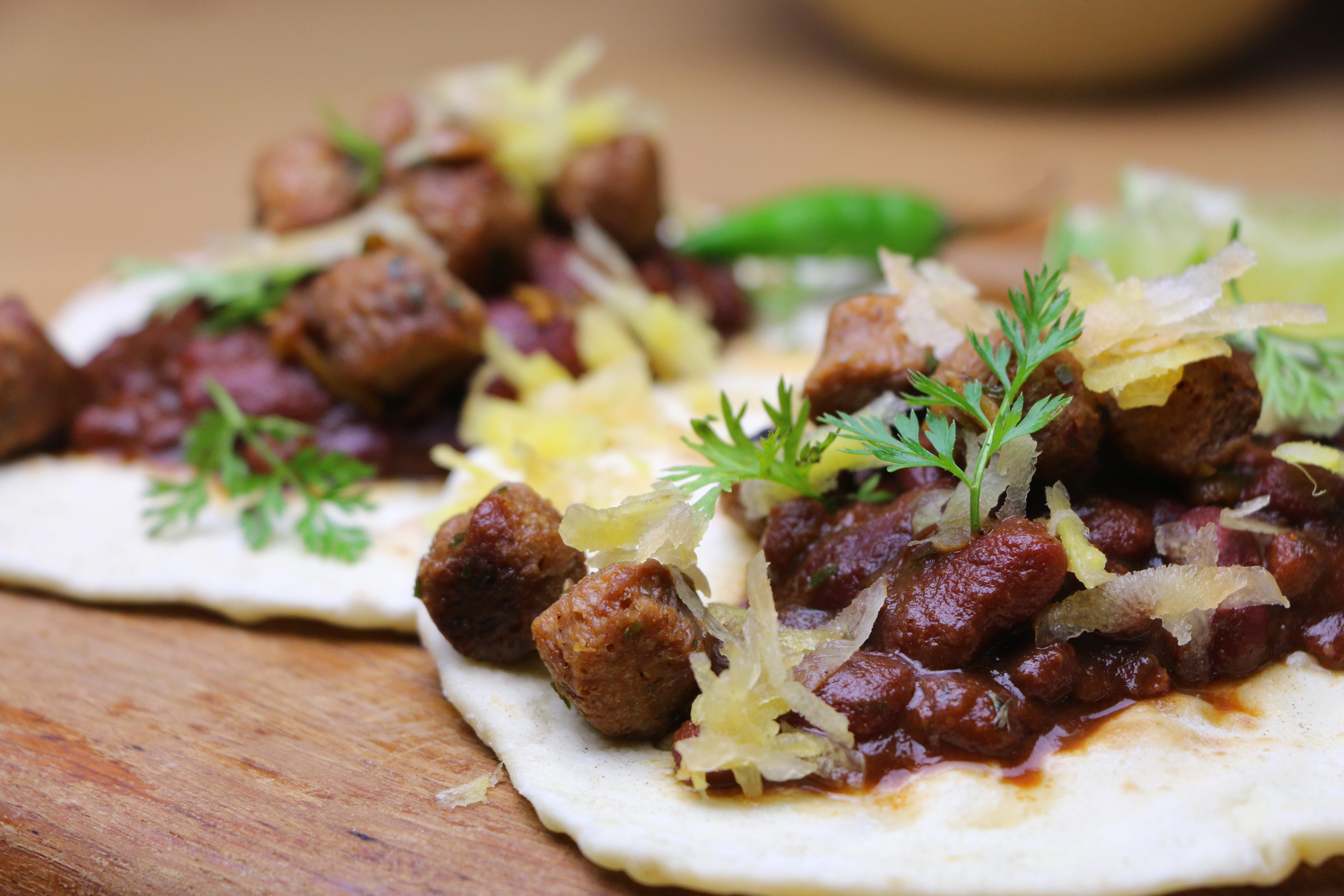 kidney Bohnen und Roti