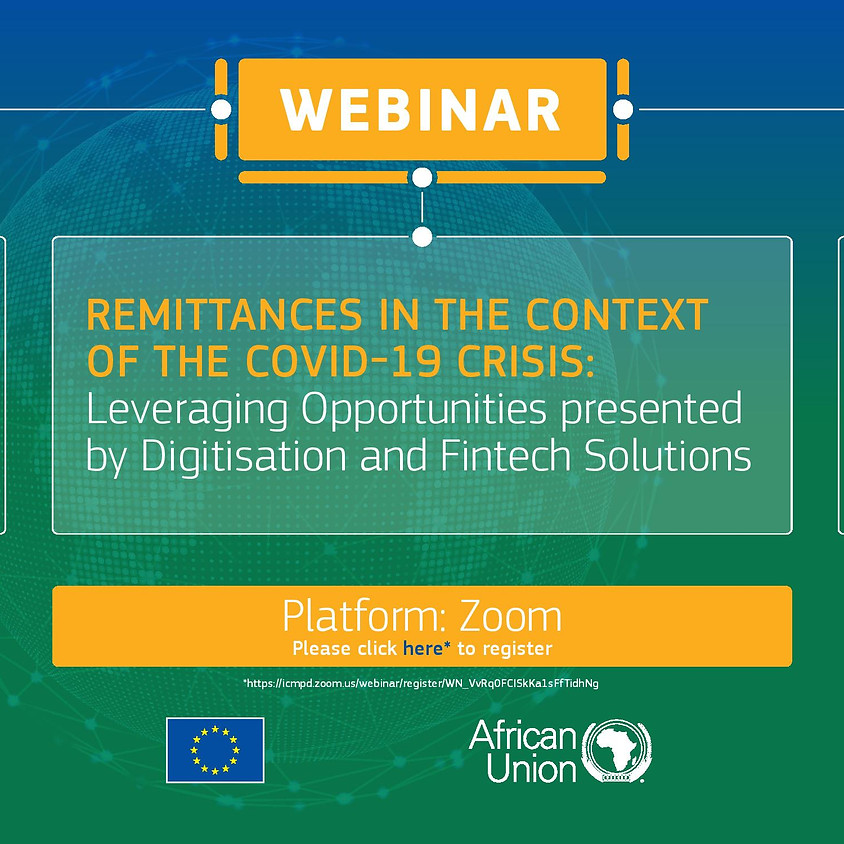 ICMPD-AU-EU Webinar : Remittances in the Context of the COVID 19 Crisis: Leveraging Digitisation and Fintech Solutions