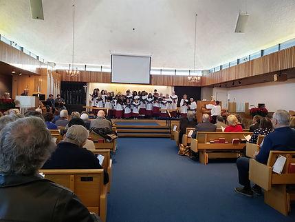 Choirs at Don's Farewell Service Jan 5 2
