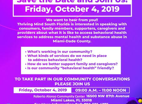 Mental Health Community Forum in Miami Lakes