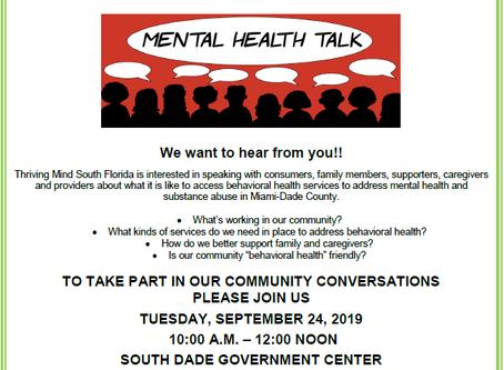 South Dade Mental Health Community Forum