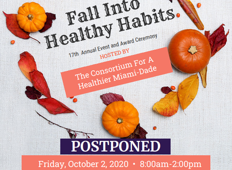 POSTPONED- Consortium for a Healthier Miami-Dade 17th Annual Event and Award Ceremony