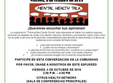 Mental Health Community Forum at Citrus Health Network, Inc (En español)