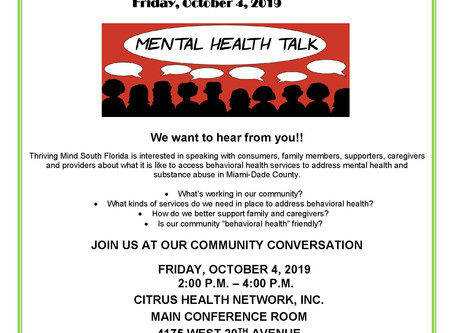 Mental Health Community Forum at Citrus Health Network, Inc