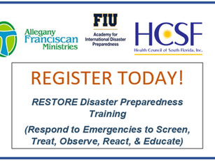 REGISTER TODAY! FREE CHW Disaster Training 2/27/20 at the Health Council of South Florida (HCSF)