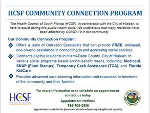 HCSF COMMUNITY CONNECTION PROGRAM