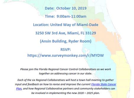 FL Regional Cancer Control Town Hall Meeting