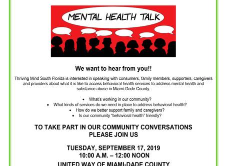 Mental Health Community Forum