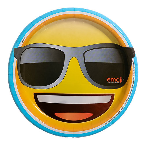 Cool Emoji Luncheon Plate