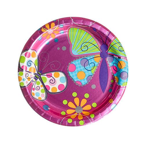 Butterfly Sparkle Metallic Cake Plates