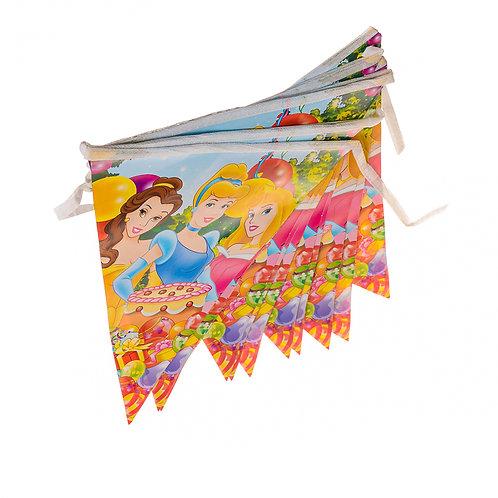 Disney Princesses Running Flags