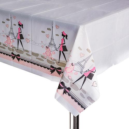 Pink Paris Plastic Table Cover