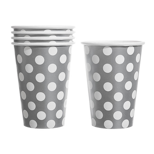 Silver Polka Dot Paper Cup